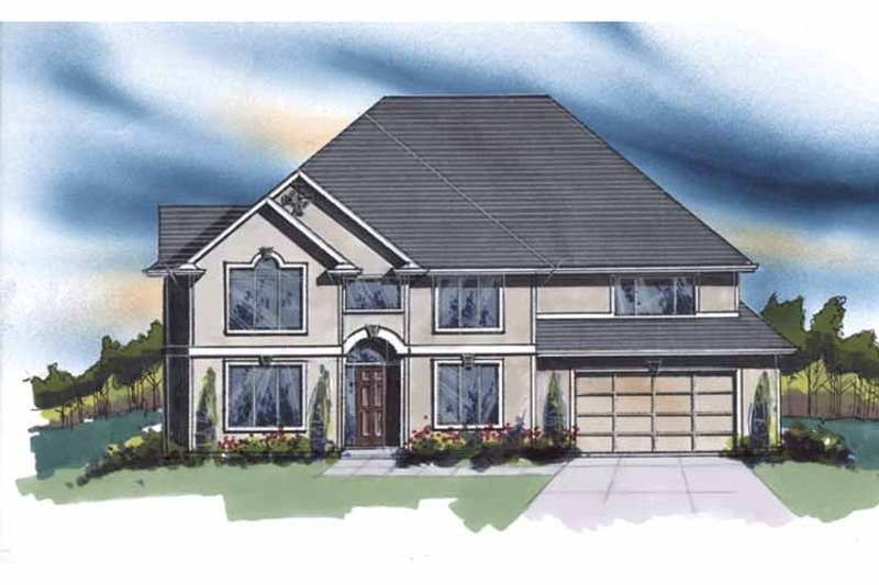 Traditional Exterior - Front Elevation Plan #509-380 - Houseplans.com