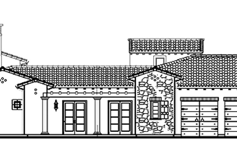 Mediterranean Exterior - Other Elevation Plan #944-1 - Houseplans.com