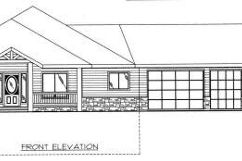 Bungalow Exterior - Other Elevation Plan #117-578 - Houseplans.com