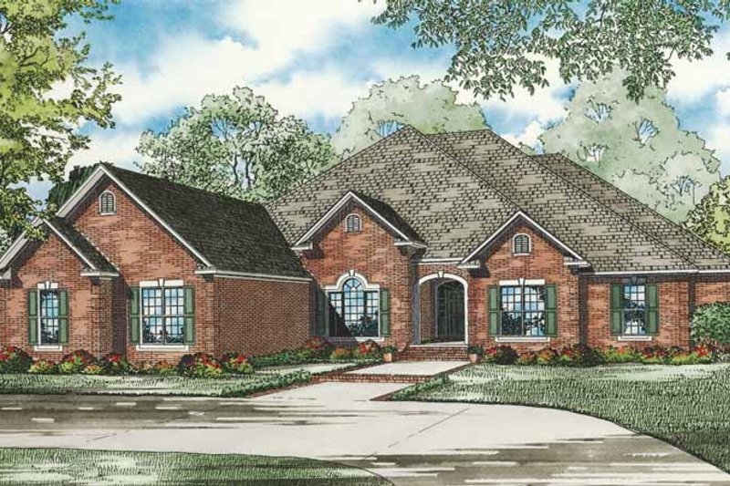 Dream House Plan - Traditional Exterior - Front Elevation Plan #17-3265