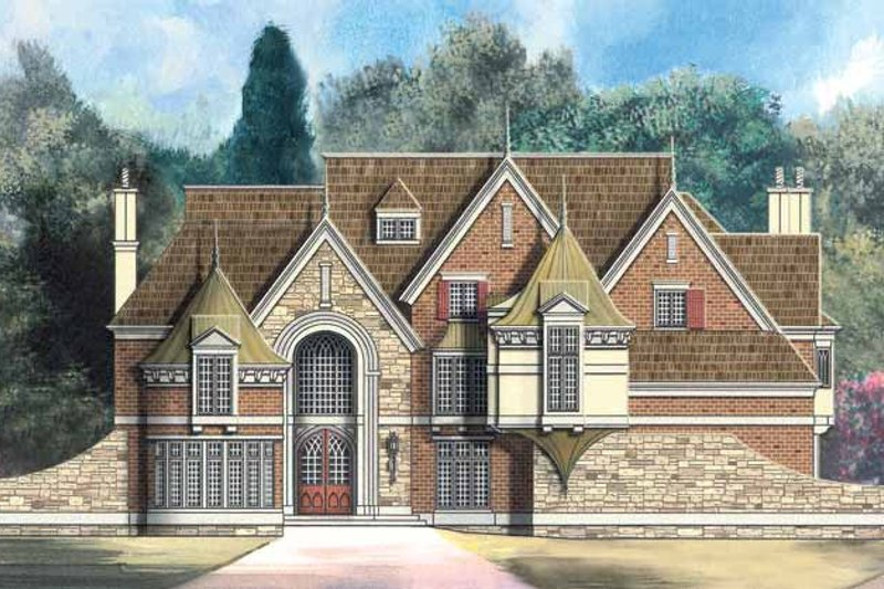Country Exterior - Front Elevation Plan #119-402