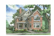 Dream House Plan - Colonial Exterior - Front Elevation Plan #929-856