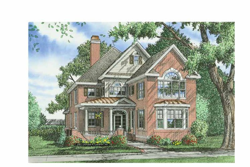 Colonial Exterior - Front Elevation Plan #929-856 - Houseplans.com