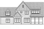 European Style House Plan - 4 Beds 3 Baths 3756 Sq/Ft Plan #413-111 Exterior - Rear Elevation