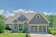 Cottage Exterior - Front Elevation Plan #437-107