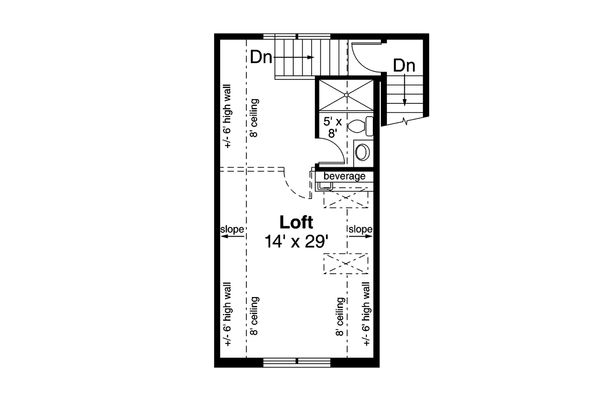 Traditional Floor Plan - Upper Floor Plan Plan #124-1155