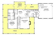 Country Style House Plan - 3 Beds 2.5 Baths 1675 Sq/Ft Plan #20-146 Floor Plan - Main Floor Plan