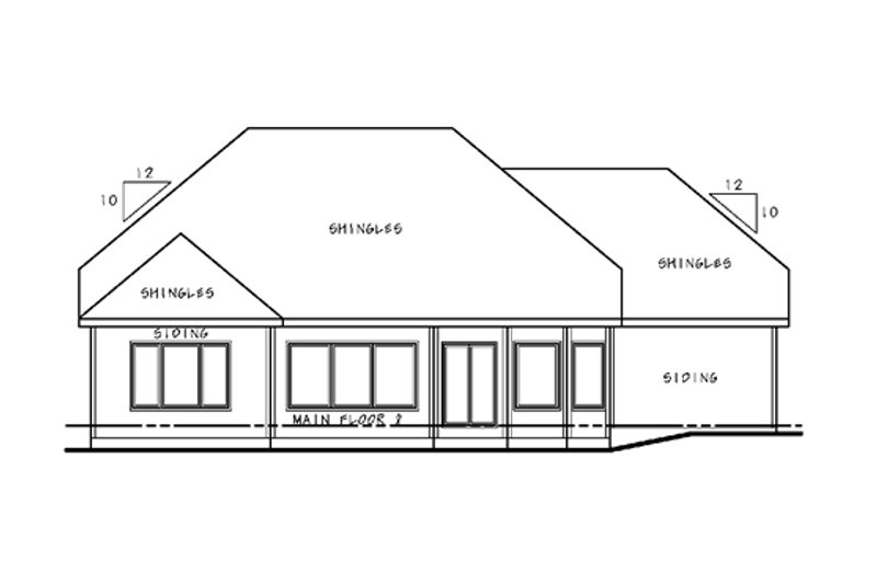 European Exterior - Rear Elevation Plan #20-2145 - Houseplans.com