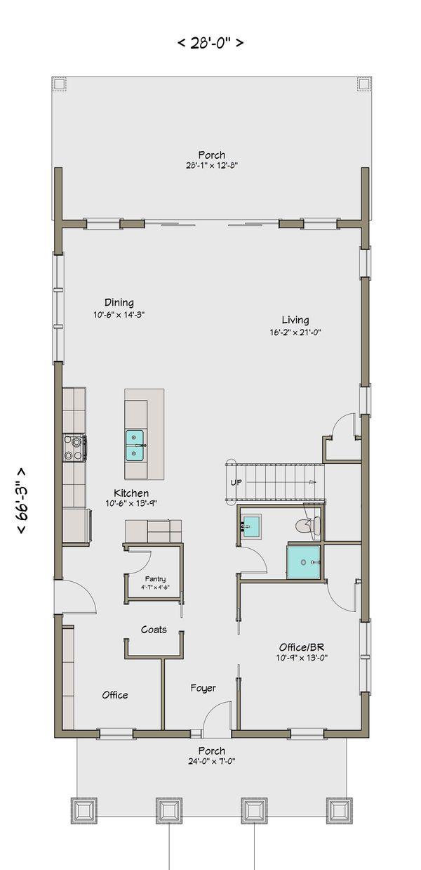 Craftsman Floor Plan - Main Floor Plan Plan #461-42