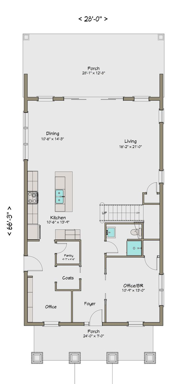 Craftsman Floor Plan - Main Floor Plan #461-42