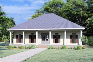Traditional Exterior - Front Elevation Plan #44-240