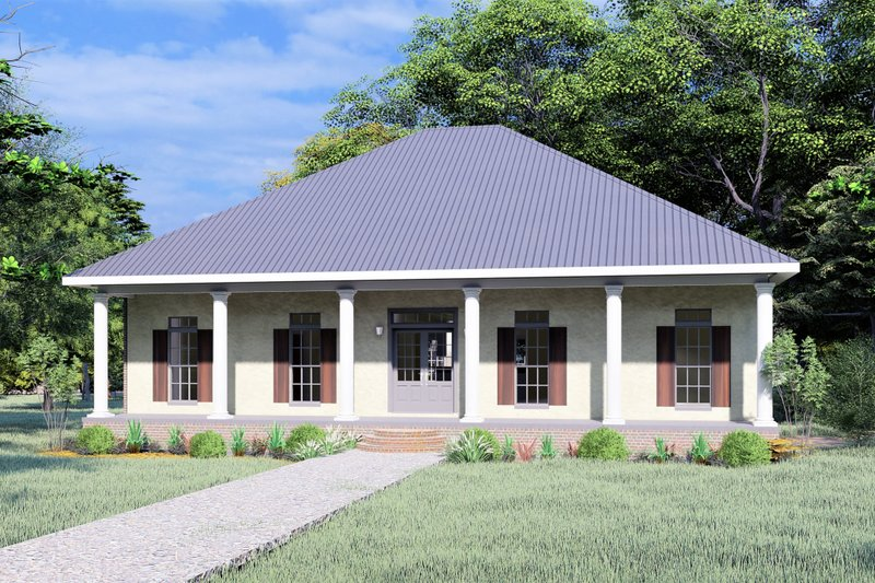 House Design - Traditional Exterior - Front Elevation Plan #44-240