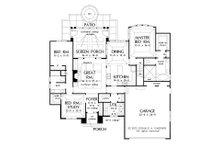 European Floor Plan - Main Floor Plan Plan #929-28