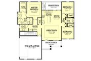 Craftsman Style House Plan - 3 Beds 2 Baths 1657 Sq/Ft Plan #430-149