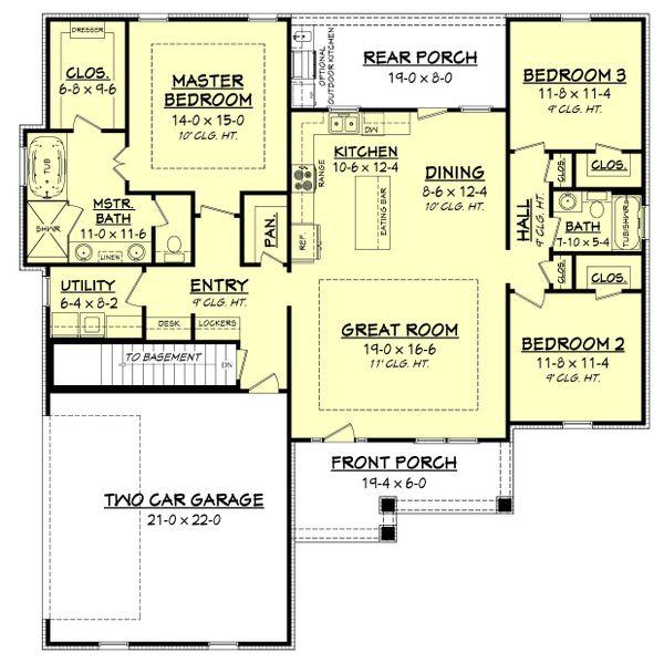 Craftsman Floor Plan - Other Floor Plan #430-149