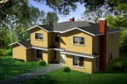 Traditional Style House Plan - 4 Beds 3 Baths 2529 Sq/Ft Plan #1-1475 Exterior - Front Elevation