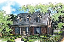 Colonial Exterior - Front Elevation Plan #45-103