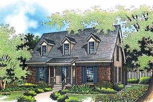 House Blueprint - Colonial Exterior - Front Elevation Plan #45-103