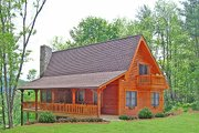 Log Style House Plan - 3 Beds 2 Baths 1601 Sq/Ft Plan #456-3 Exterior - Front Elevation