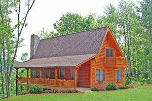 Log Exterior - Front Elevation Plan #456-3