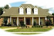 Southern Style House Plan - 4 Beds 4 Baths 4397 Sq/Ft Plan #81-1326 Exterior - Front Elevation