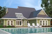 Ranch Style House Plan - 3 Beds 2.5 Baths 2086 Sq/Ft Plan #45-578 Exterior - Rear Elevation