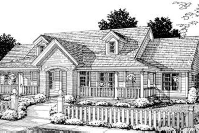 Home Plan Design - Traditional Exterior - Front Elevation Plan #20-1363
