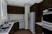 Ranch Interior - Kitchen Plan #1060-38