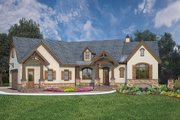 European Style House Plan - 3 Beds 2.5 Baths 2764 Sq/Ft Plan #119-428 Exterior - Front Elevation