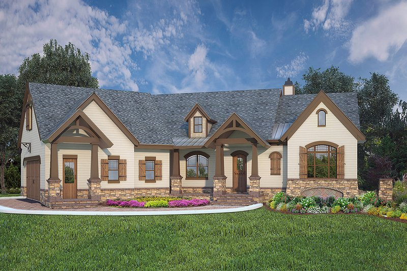 House Plan Design - European Exterior - Front Elevation Plan #119-428