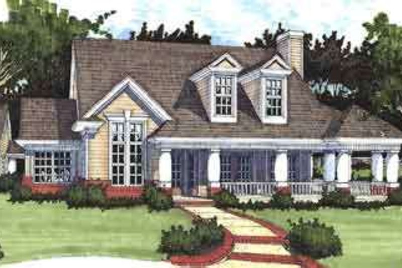 Dream House Plan - Country Exterior - Front Elevation Plan #120-147