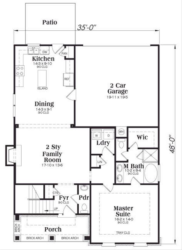 Tudor Floor Plan - Main Floor Plan Plan #419-116