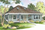 Cottage Style House Plan - 2 Beds 2 Baths 1686 Sq/Ft Plan #124-364 Exterior - Front Elevation