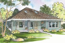 Cottage Exterior - Front Elevation Plan #124-364