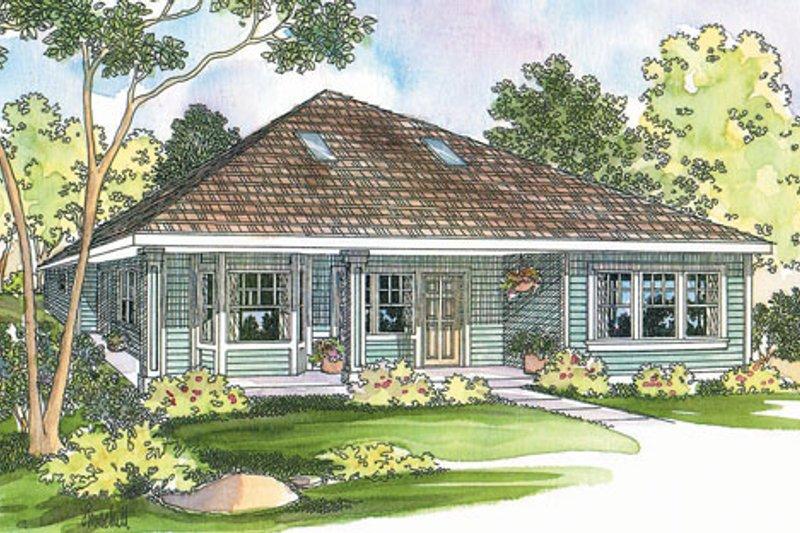 Cottage Exterior - Front Elevation Plan #124-364 - Houseplans.com