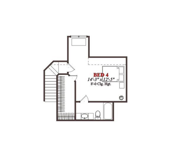 European Floor Plan - Upper Floor Plan Plan #63-320