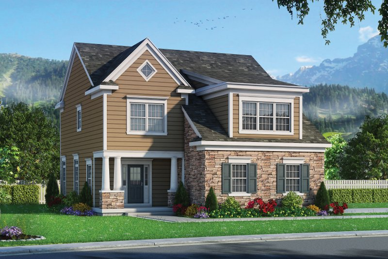 Home Plan - Traditional Exterior - Front Elevation Plan #20-2346