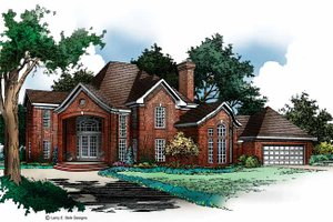 European Exterior - Front Elevation Plan #952-171