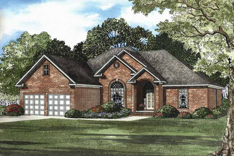 Contemporary Exterior - Front Elevation Plan #17-2878 - Houseplans.com