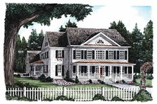 Home Plan - Classical Exterior - Front Elevation Plan #927-615