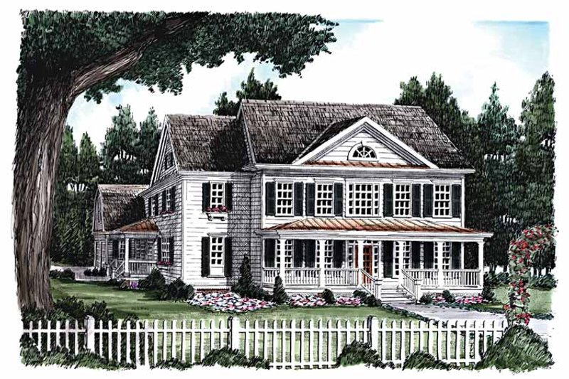 Classical Exterior - Front Elevation Plan #927-615