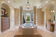 Mediterranean Interior - Master Bathroom Plan #930-413