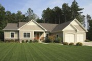 Craftsman Style House Plan - 2 Beds 2.5 Baths 1724 Sq/Ft Plan #928-152 Exterior - Front Elevation