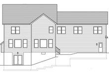Colonial Exterior - Rear Elevation Plan #1010-204