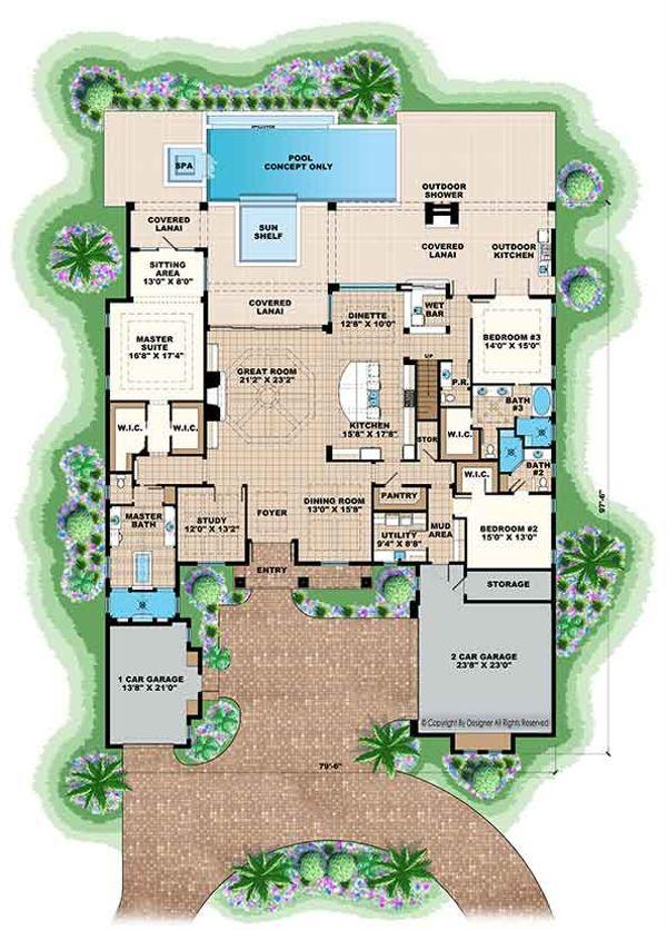 Country Floor Plan - Main Floor Plan Plan #1017-170