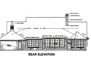 Country Style House Plan - 3 Beds 2.5 Baths 2688 Sq/Ft Plan #310-663 Exterior - Rear Elevation