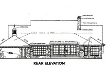 Country Exterior - Rear Elevation Plan #310-663