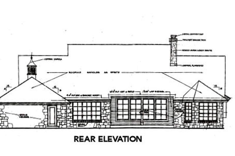 Country Exterior - Rear Elevation Plan #310-663 - Houseplans.com