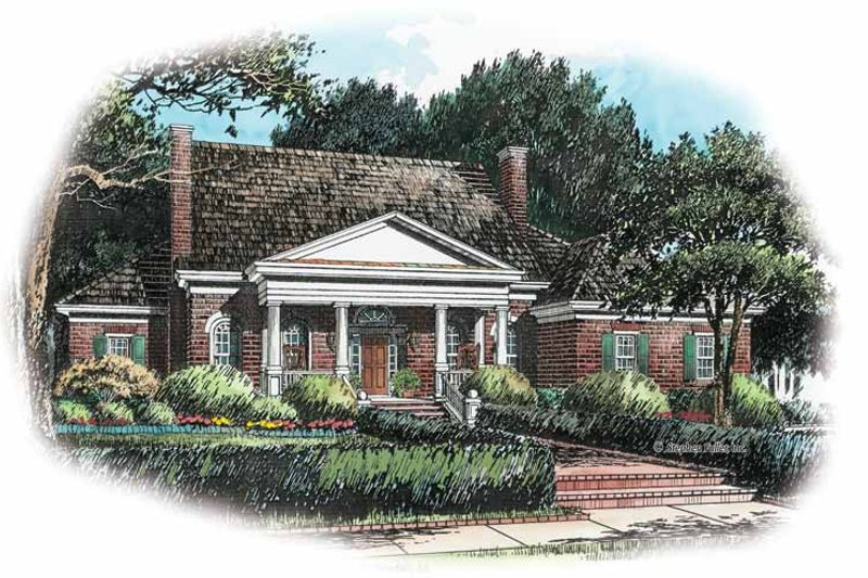 Classical Exterior - Front Elevation Plan #429-245