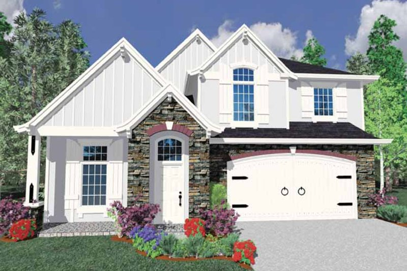 Country Exterior - Front Elevation Plan #509-360
